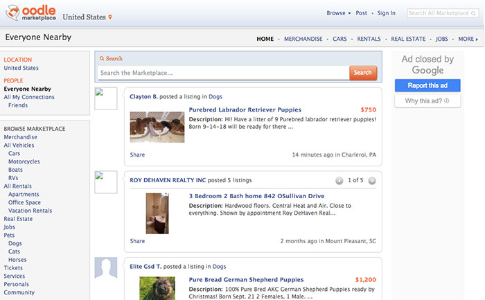 Sign Up With Millions Of People Using free classifieds